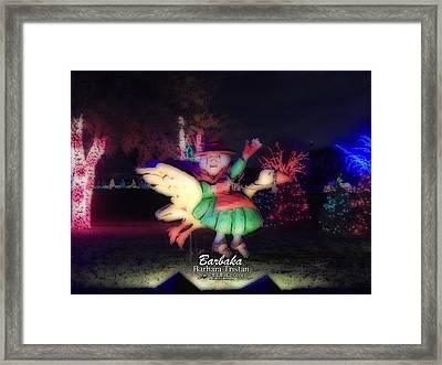 Mother Goose #7368 Framed Print by Barbara Tristan