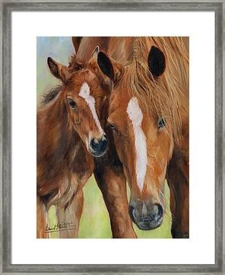 Mother Love Framed Print by David Stribbling