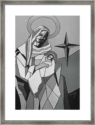 Mother Mary And Son Jesus Framed Print by Mary DuCharme