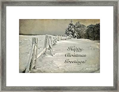 Mother Nature's Christmas Tree Card Framed Print by Lois Bryan
