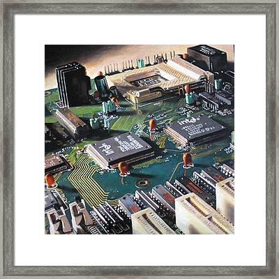 Motherboard Framed Print by Pamela Bennett