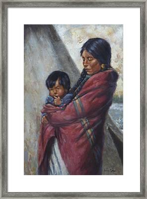 Motherhood Framed Print by Harvie Brown