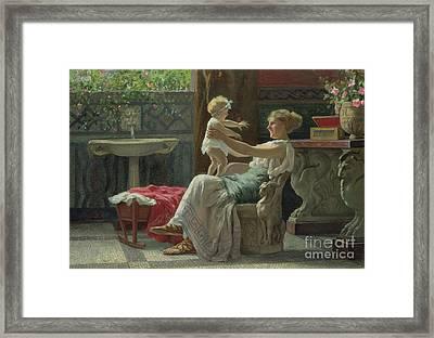 Mother's Darling  Framed Print by Zocchi Guglielmo