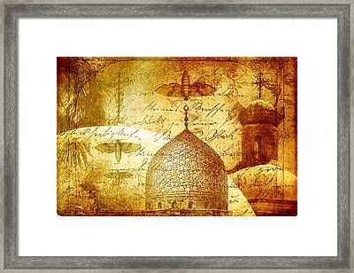 Moths And Mosques Framed Print by Tammy Wetzel