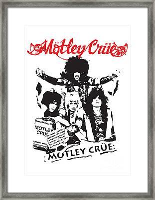 Motley Crue No.01 Framed Print by Caio Caldas