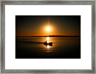 Motor Boat Ride Framed Print by Todd Klassy