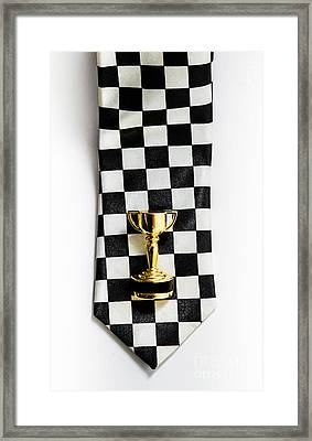 Motor Sport Racing Tie And Trophy Framed Print by Jorgo Photography - Wall Art Gallery