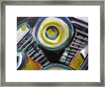 Motorcycle Abstract Engine 2 Framed Print by Anita Burgermeister
