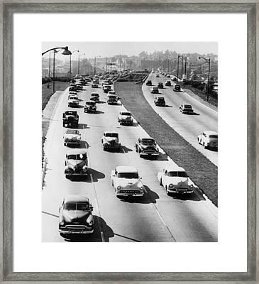 Motorway Vista Framed Print by L J Willinger