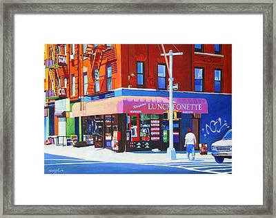 Mott Street Framed Print by John Tartaglione