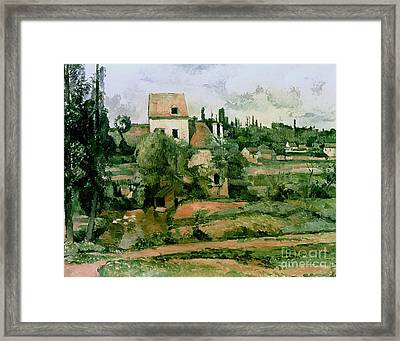 Moulin De La Couleuvre At Pontoise Framed Print by Paul Cezanne