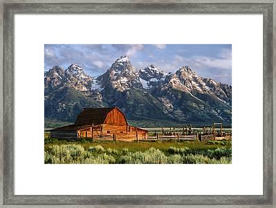 Moulton Barn Framed Print by Randall Roberts