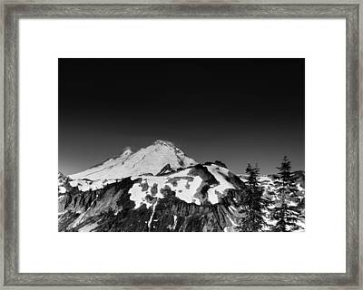 Mount Baker In Washington Framed Print by Brendan Reals