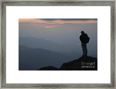 Mount Clay Sunset - White Mountains New Hampshire Usa Framed Print by Erin Paul Donovan
