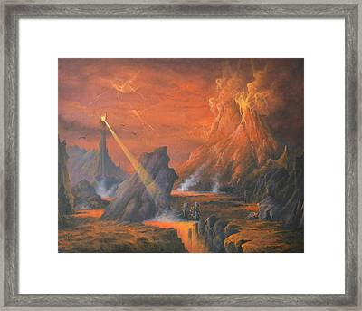 Mount Doom The Eye Of Sauron Framed Print by Joe  Gilronan