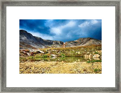 Mount Evans Tundra Land Framed Print by Angelina Vick