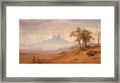 Mount Hood Framed Print by Albert Bierstadt