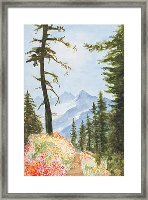 Mount Jefferson Framed Print by Jean Moule