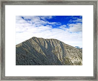 Mount Katahdin In Baxter State Park Maine Framed Print by Brendan Reals