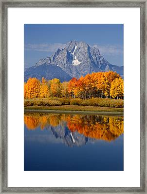 Mount Moran Reflections Framed Print by Eric Foltz