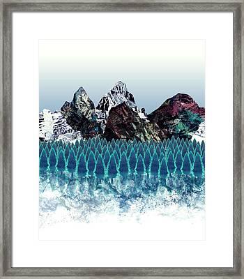 Mount North Framed Print by Varpu Kronholm
