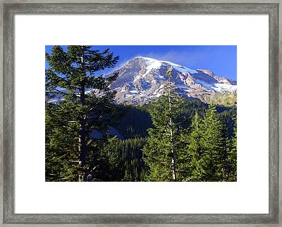Mount Raineer 1 Framed Print by Marty Koch
