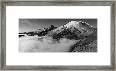 Mount Rainier Above The Clouds Framed Print by Ryan Scholl
