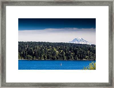 Mount Rainier Framed Print by Randy Bayne