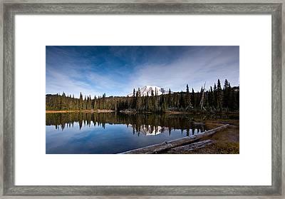 Mount Rainier Reflection Framed Print by Mike Reid