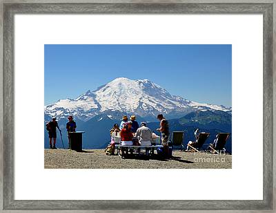 Mount Rainier Seen From Crystal Mountain Summit  7 Framed Print by Tanya  Searcy