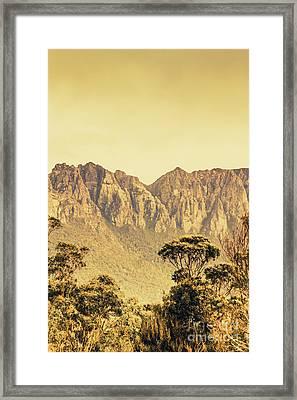 Mount Read In Western Tasmania Framed Print by Jorgo Photography - Wall Art Gallery