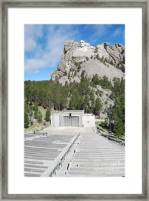 Mount Rushmore National Monument Amphitheater South Dakota Framed Print by Shawn O'Brien