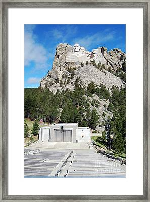 Mount Rushmore National Monument Overlooking Amphitheater South Dakota Framed Print by Shawn O'Brien