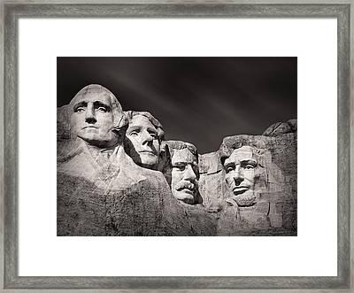Mount Rushmore South Dakota Usa Framed Print by Ian Barber