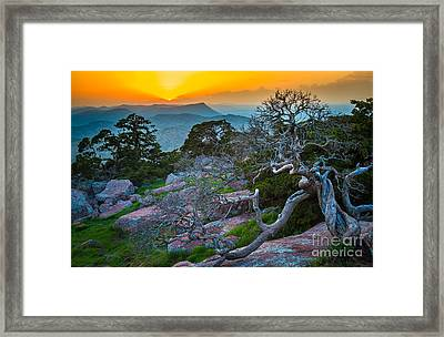 Mount Scott Sunset Framed Print by Inge Johnsson