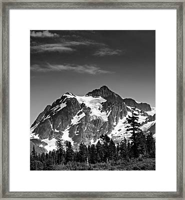 Mount Shuksan Black And White Cascade Mountains Washington Framed Print by Brendan Reals