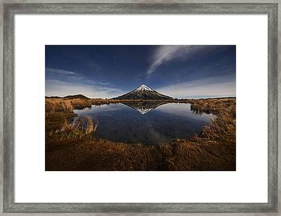Mount Taranaki Framed Print by Yan Zhang