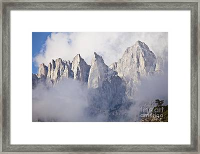 Mount Whitney Framed Print by Greg Clure