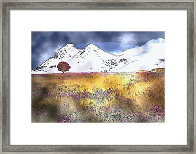 Mountain Framed Print by Artistic Panda