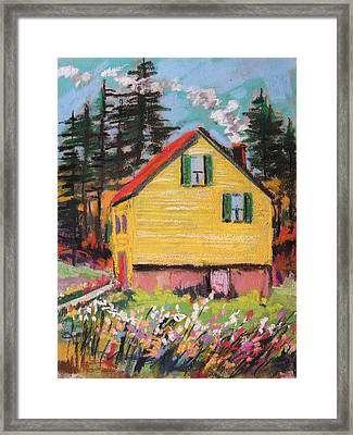 Mountain Cabin Framed Print by John Williams