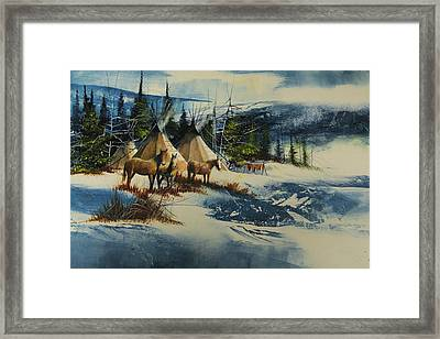 Mountain Camp Framed Print by Robert Carver