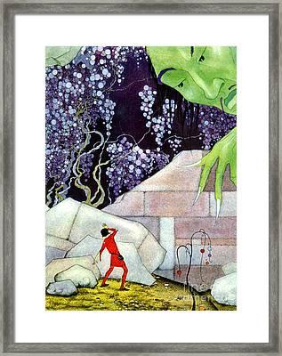 Mountain Genie 1918 Framed Print by Padre Art