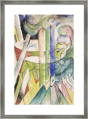 Mountain Goat Framed Print by Franz Marc