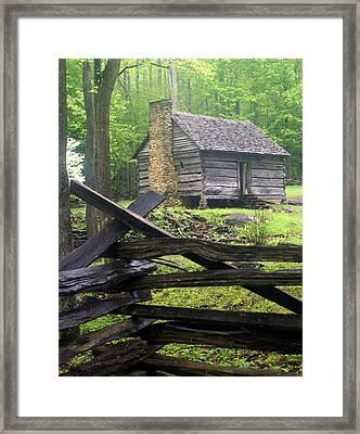 Mountain Homestead Framed Print by Marty Koch