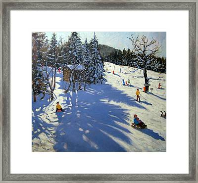 Mountain Hut Framed Print by Andrew Macara