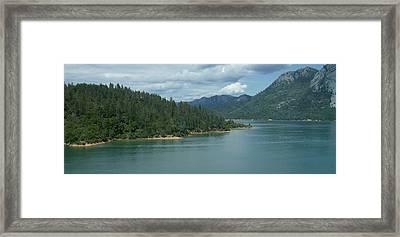 Mountain Lake 1 Ca Framed Print by Linda Meyer