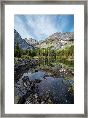 Mountain Lake Alberta Canada Framed Print by Joan Carroll