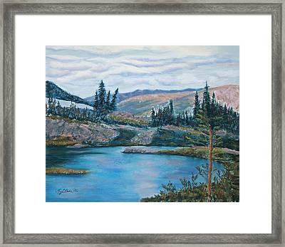 Mountain Lake Framed Print by Mary Benke