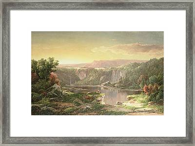 Mountain Lake Near Piedmont Framed Print by William Sonntag