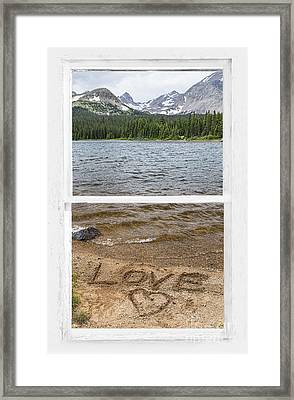 Mountain Lake Window Of Love Framed Print by James BO  Insogna